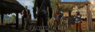 Драка с бандитами на выходе из таверны в Белом Саду в задании 'Сирень и крыжовник' в 'Ведьмаке 3'