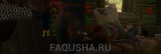 Умирающая Лина из хижины травницы в задании 'На смертном одре' в 'Ведьмаке 3'