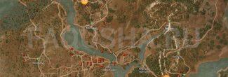 Карта с местоположением стального и серебрянного мечей в задании 'Ведьмачьи древности: снаряжение Школы Змеи' в 'Ведьмаке 3'