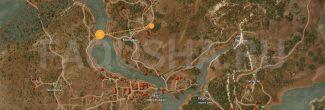 Карта с местоположением сокровищ в задании 'Темерские ценности' в 'Ведьмаке 3'