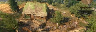 Хижина травницы Томиры в задании 'Бестия из Белого Сада' в 'Ведьмаке 3'