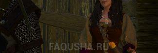 Встреча с Томирой в хижине у травницы в задании 'Бестия из Белого Сада' в 'Ведьмаке 3'