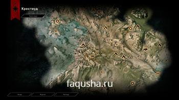 Карта с местоположением астрариумов в Крествуде в Dragon Age: Inquisition