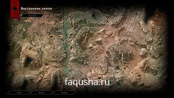 Карта с местоположением астрариумов во Внутренних землях в Dragon Age: Inquisition