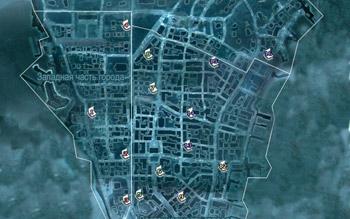 Местоположение страниц альманахов в Нью-Йорке в Assassin's Creed 3