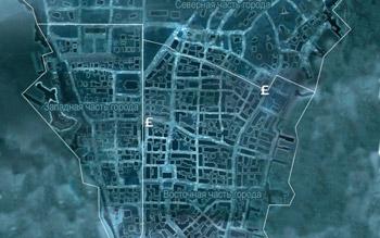 Карта с магазинами торговцев в Нью-Йорке в Assassin's Creed 3