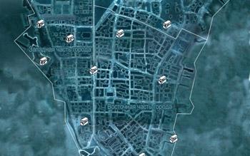 Карта с местоположением сундуков в Нью-Йорке в Assassin's Creed 3