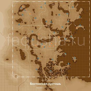 Карта с местоположением всех спутников, компаньонов и напарников в Fallout 4