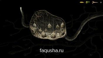 Прохождение головоломки с камнями и пчелой в гнезде термитов на летающем дереве в Samorost 3