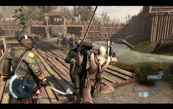 Появление курьера возле перехода во Фронтир в северном районе Нью-Йорка в Assassin's Creed 3