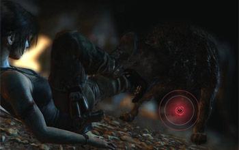 Убийство волка в логове в горной деревне в Tomb Raider