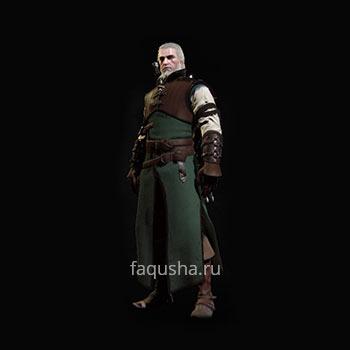 Внешний вид обычного комплекта оружия и брони Школы Медведя в The Witcher 3: Дикая Охота