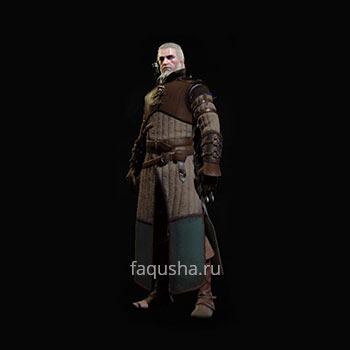 Внешний вид улучшенного комплекта оружия и брони Школы Медведя в The Witcher 3: Дикая Охота