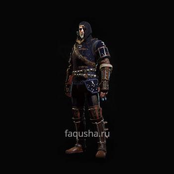 Внешний вид гроссмейстерского комплекта оружия и брони Школы Кота в The Witcher 3: Дикая Охота - Кровь и вино