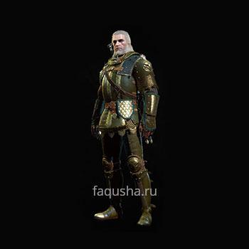 Внешний вид гроссмейстерского комплекта оружия и брони Школы Грифона в The Witcher 3: Дикая Охота - Кровь и вино