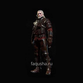 Внешний вид гроссмейстерского комплекта оружия и брони Школы Волка в The Witcher 3: Дикая Охота - Кровь и вино