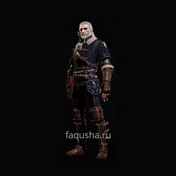 Внешний вид мастерского комплекта оружия и брони Школы Кота в The Witcher 3: Дикая Охота