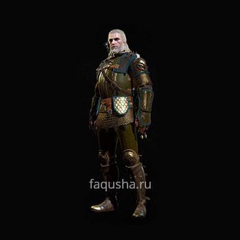 Внешний вид мастерского комплекта оружия и брони Школы Грифона в The Witcher 3: Дикая Охота