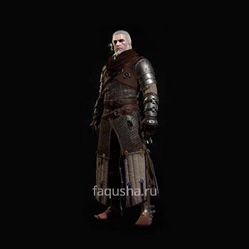 Внешний вид мастерского комплекта оружия и брони Школы Медведя в The Witcher 3: Дикая Охота