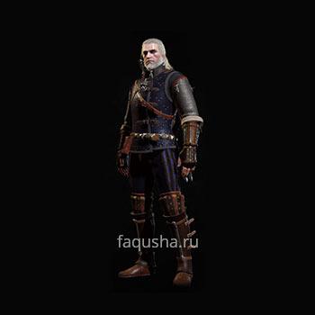 Внешний вид отличного комплекта оружия и брони Школы Кота в The Witcher 3: Дикая Охота