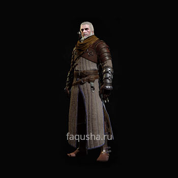Внешний вид отличного комплекта оружия и брони Школы Медведя в The Witcher 3: Дикая Охота