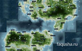 Карта с расположением карт памяти в Far Cry 3