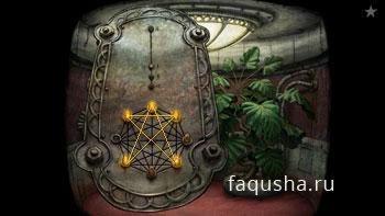 Решение головоломки с пятиконечной звездой в лифте башни в Machinarium