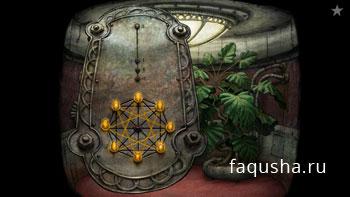 Решение головоломки с восьмиконечной звездой в лифте башни в Machinarium