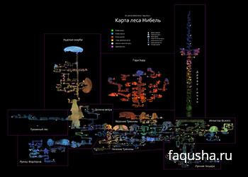 Карта с местоположением ячеек энергии, жизней и умений в Ori and the Blind Forest