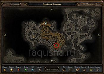 Местоположение Бальворуука и Кальдероса в Старой Арковии в Grim Dawn