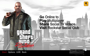 Стартовый экран The Lost and Damned, дополнения для GTA4
