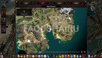 Divinity: Original Sin 2: карта с местоположением нагрудника из сета Бракка в Таинственной пещере на Гулких Топях