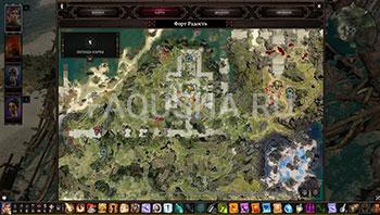Divinity: Original Sin 2: карта с местоположением шлема из сета Бракка в Оружейной в развалинах замка на Гулких топях