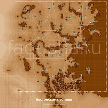 Карта с местоположением пупсов в Fallout 4