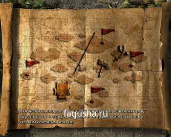 Карта с расположением поселений коренных жителей в третьей главе 'Беспорядок' в Anno 1503