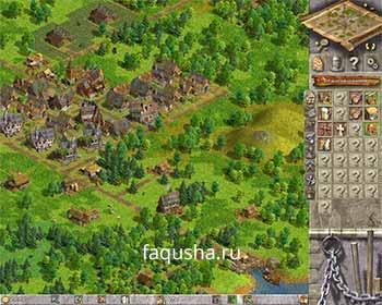 Пример планировки поселения в первой главе 'Нова Фора' в Anno 1503