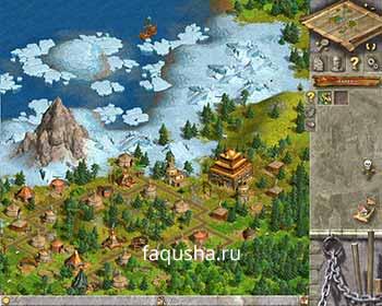 Поселение монголов в пятой главе 'Паковый лед' в Anno 1503