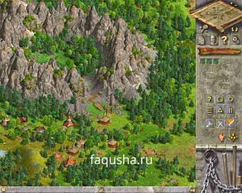 Расчистка прохода в горах в шестой главе 'Камень Тогулдура' в Anno 1503