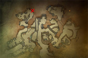 Местоположение Йорвита в Вергене в The Witcher 2