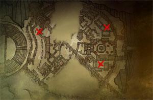 Подвалы с гаргульями в Лок Муинне в The Witcher 2