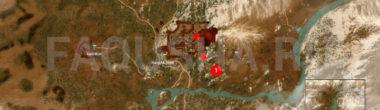 Карта задания 'Пейзаж после битвы' в 'Ведьмаке 3'