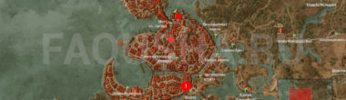 Карта задания 'Темней всего под фонарем' в 'Ведьмаке 3'