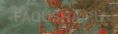 Карта задания 'Сокровища графа Ройвена' в 'Ведьмаке 3'