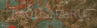 Карта задания 'Охота за Младшим' в 'Ведьмаке 3'