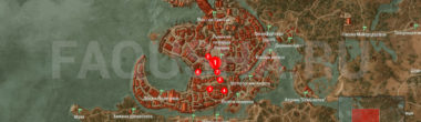 Карта задания 'Костры Новиграда' в 'Ведьмаке 3'