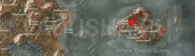 Карта задания 'Пропал человек' в 'Ведьмаке 3'