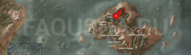 Карта задания 'Безымянный' в 'Ведьмаке 3'