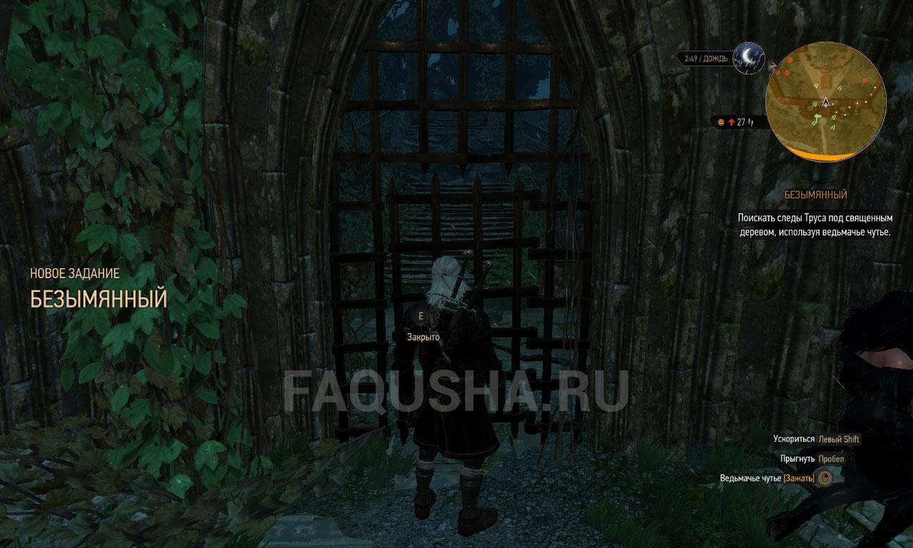 Ведьмак 3 роща фрейи ключ от двери