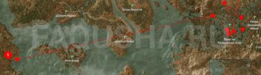 Карта задания 'Хозяйки леса' в 'Ведьмаке 3'