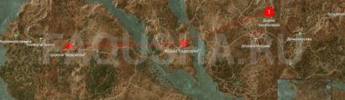 Карта задания 'Нильфгаардский связной' в 'Ведьмаке 3'